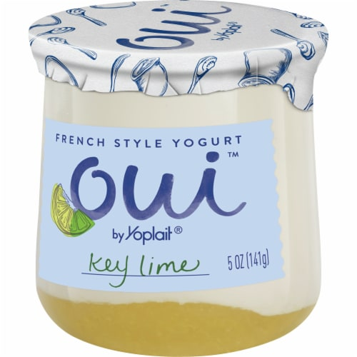 Oui by Yoplait Key Lime French Style Yogurt Perspective: back