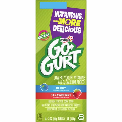 Go-Gurt Berry Yogurt Tubes Perspective: back