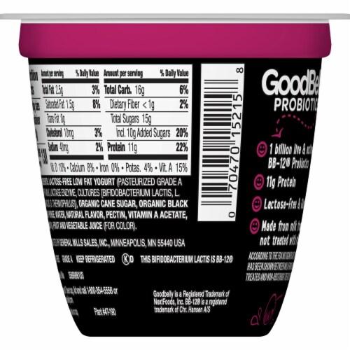 GoodBelly Probiotics Lactose-Free Black Cherry Yogurt Perspective: back