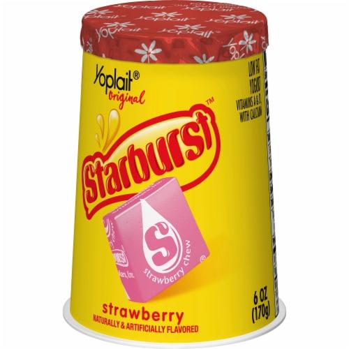 Yoplait Original Starburst Strawberry Flavored Yogurt Perspective: back