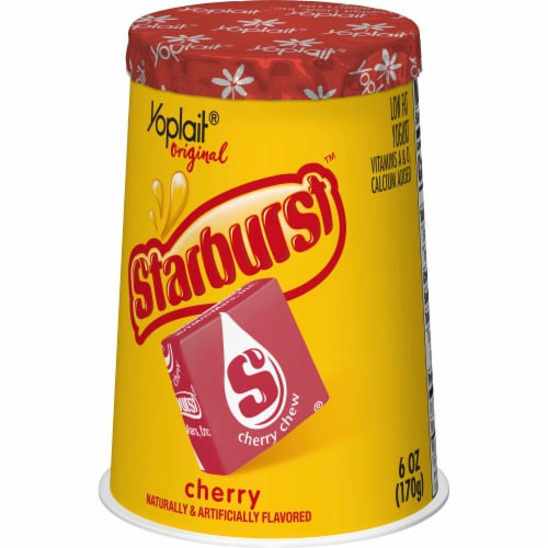 Yoplait Original Starburst Cherry Flavored Low Fat Yogurt Perspective: back