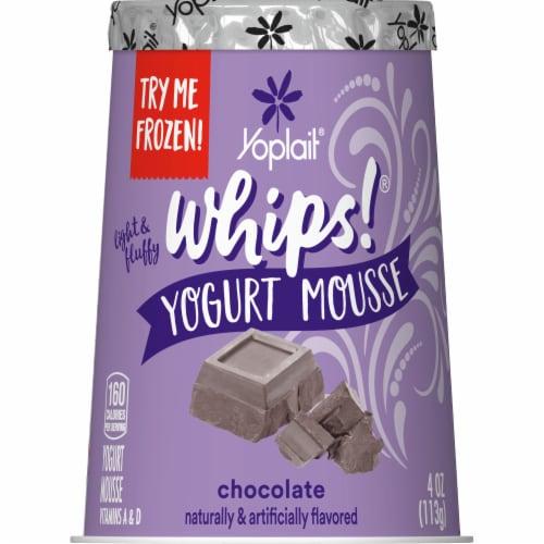 Yoplait Whips Chocolate Yogurt Mousse Perspective: back
