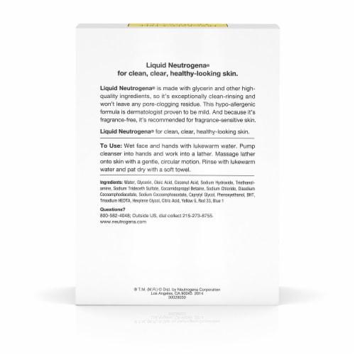 Neutrogena Fragrance-Free Liquid Facial Cleansing Formula Perspective: back
