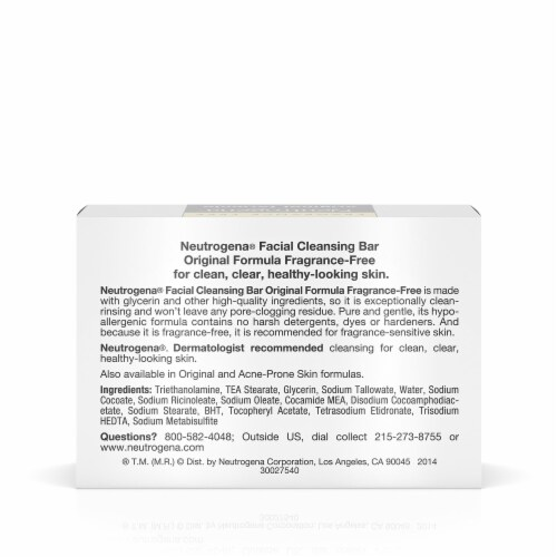Neutrogena Original Formula Fragrance-Free Transparent Facial Bar Perspective: back