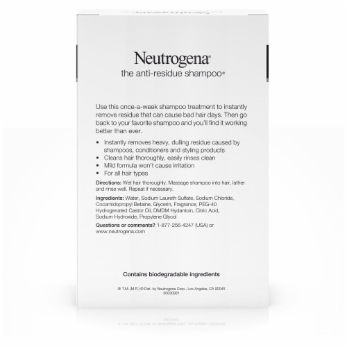 Neutrogena Anti-Residue Clarifying Shampoo Perspective: back