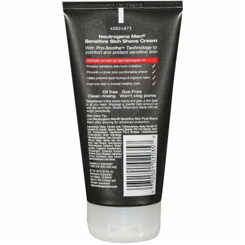 Neutrogena Men Sensitive Skin Shave Cream Perspective: back