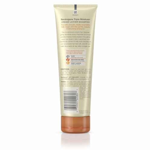 Neutrogena Triple Moisture Cream Lather Shampoo Perspective: back
