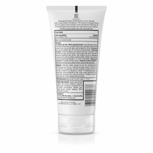 Neutrogena Rapid Clear Stubborn Acne Cream Cleanser Perspective: back