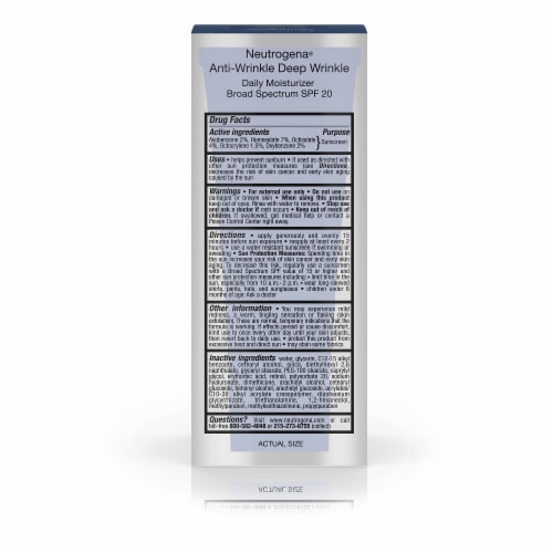 Neutrogena Ageless Intensives Anti-Wrinkle Deep Wrinkle Daily Moisturizer SPF20 Perspective: back