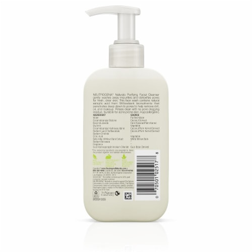 Neutrogena Naturals Purifying Facial Cleanser Perspective: back