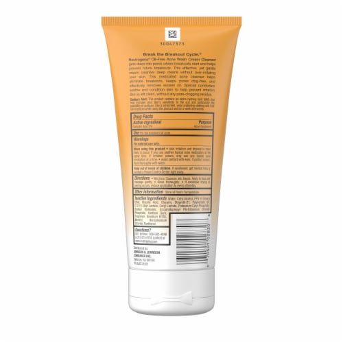 Neutrogena Oil-Free Acne Wash Cream Cleanser Perspective: back