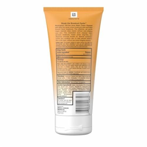Neutrogena Oil-Free Acne Wash Cream Cleanser Perspective: back