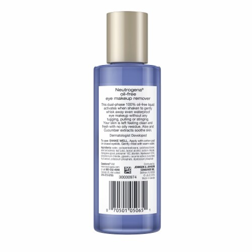 Neutrogena Oil-Free Eye Makeup Remover Perspective: back
