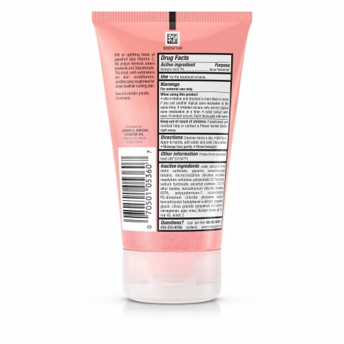 Neutrogena Oil-Free Pink Grapefruit Foaming Scrub Acne Wash Perspective: back