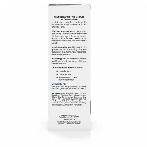 Neutrogena Sensitive Skin Oil-Free Facial Moisturizer Perspective: back