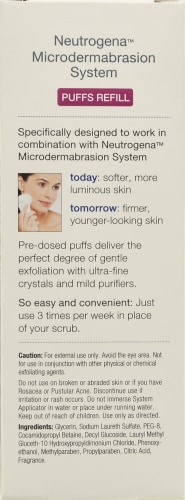 Neutrogena Microdermabrasion System Puff Refills Perspective: back