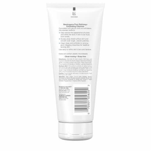 Neutrogena Pore Refining Exfoliating Cleanser Perspective: back