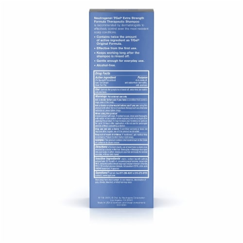 Neutrogena T/Gel Extra Strength Therapeutic Shampoo Perspective: back