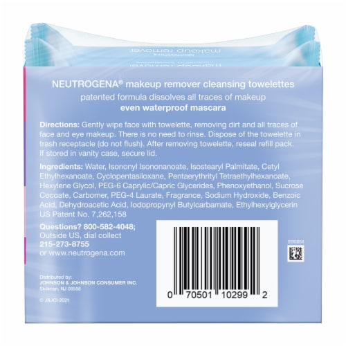 Neutrogena Makeup Remover Cleansing Towelettes Special Value Twin Pack Perspective: back