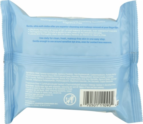 Neutrogena Makeup Remover Cleansing Towelettes 25 Count Perspective: back