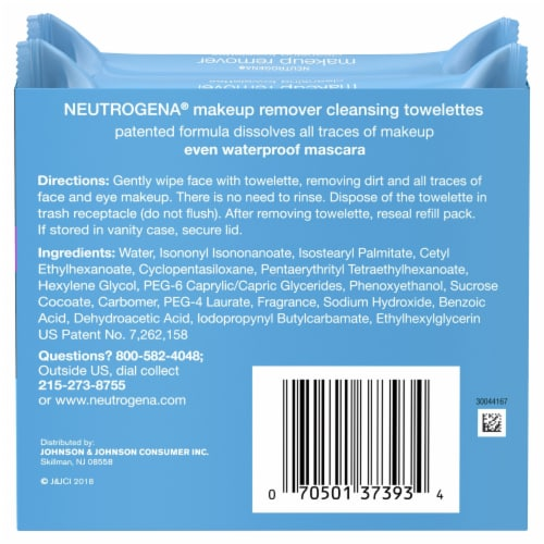 Neutrogena Makeup Remover Cleansing Towelettes Twin Pack Perspective: back