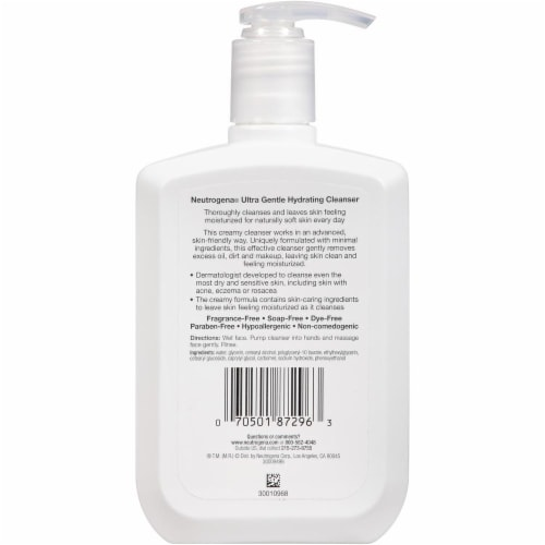 Neutrogena Ultra Gentle Hydrating Cleanser Perspective: back