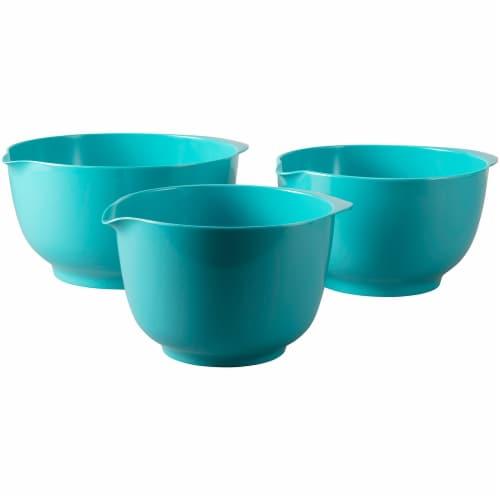 Hutzler Melamine Bowl Set 3 Pack - Turquiose Perspective: back