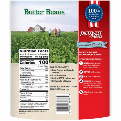 PictSweet Farms Southern Classics Butter Beans Perspective: back