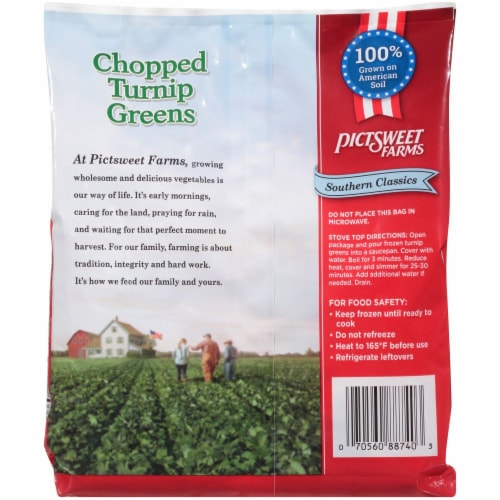 PictSweet Farms Southern Classics Chopped Turnip Greens Perspective: back