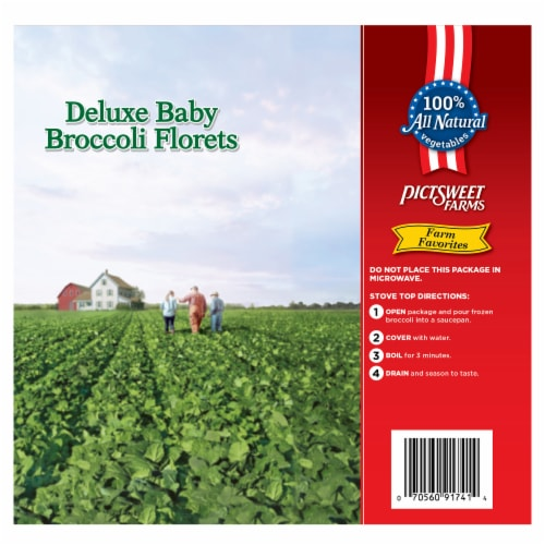 PictSweet Farms Deluxe Baby Broccoli Florets Family Size Perspective: back