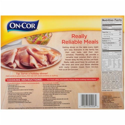 On-Cor Traditionals Gravy & Sliced White Meat Turkey Perspective: back