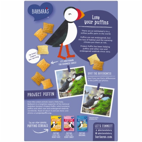 Barbara's Multigrain Puffins Cereal Perspective: back