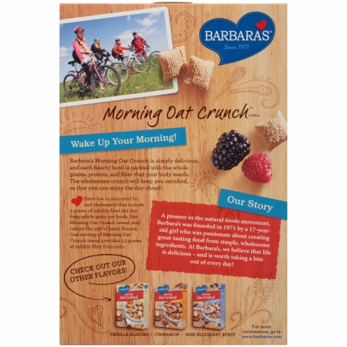 Barbara's Morning Oat Crunch Original Cereal Perspective: back