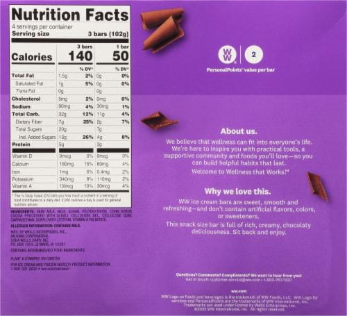 Weight Watchers™ Chocolate Fudge Ice Cream Bars Perspective: back