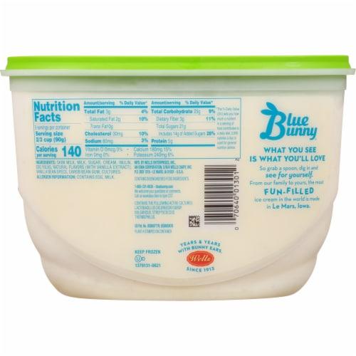 Blue Bunny Vanilla Bean Frozen Yogurt Perspective: back