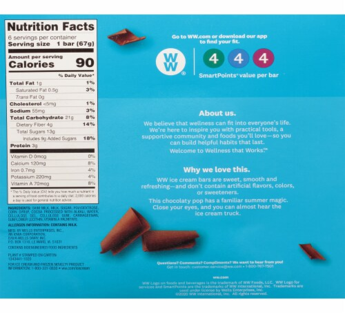 Weight Watchers Giant Chocolate Fudge Ice Cream Bars Perspective: back