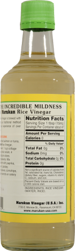Marukan Genuine Brewed Rice Vinegar Perspective: back
