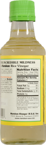 Marukan Genuine Brewed Rice Vinegar Perspective: back