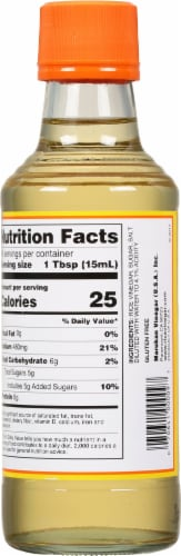 Marukan Seasoned Gourmet Rice Vinegar Perspective: back
