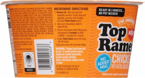 Nissin Top Ramen Chicken Flavor Bowl Perspective: back