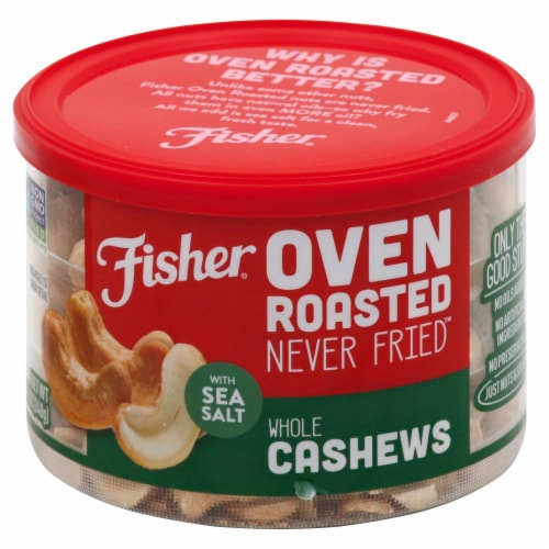 Fisher Over Roasted Whole Cashews with Sea Salt Perspective: back
