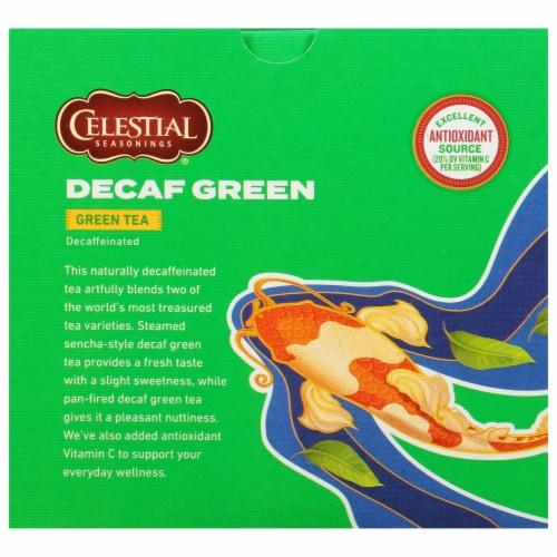Celestial Seasonings® Decaf Green Tea Bags Perspective: back