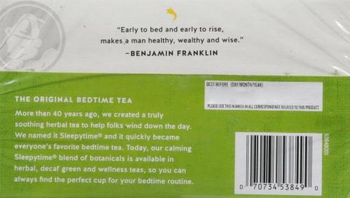 Celestial Seasonings SleepyTime Detox Wellness Tea Bags 20 Count Perspective: back
