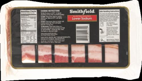 Smithfield Lower Sodium Hickory Smoked Bacon Perspective: back
