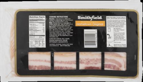 Smithfield Hometown Original Naturally Hickory Smoked Bacon Perspective: back