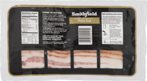 Smithfield Thick Cut Naturally Hickory Smoked Bacon Perspective: back