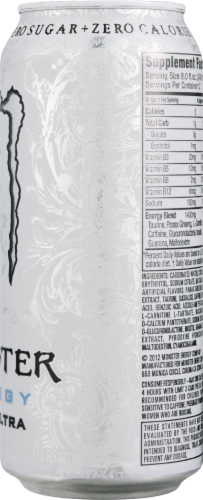 Monster Zero Ultra Energy Drink Perspective: back