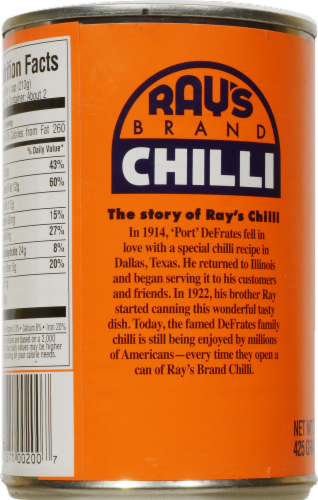 Ray's Original Chilli with Beans Perspective: back