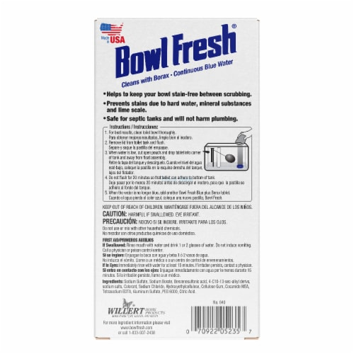 Bowl Fresh Blue Plus Borax Automatic Bowl Cleaner Tablets Perspective: back
