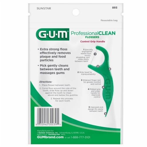 GUM Fresh Mint Professional Clean Flossers Perspective: back